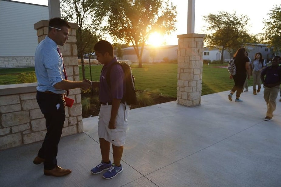 First day of school at Austin Achieve.