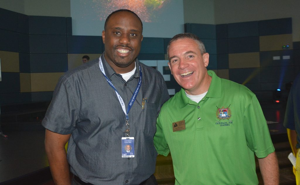 Herbert O'Neil (left) and Troy Mooney (right) of Life School.