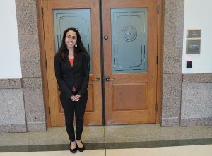 Uplift's Shirin Foroudi McMillan at the Texas Capitol in Austin