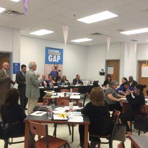 TCSA's David Dunn welcomes the group