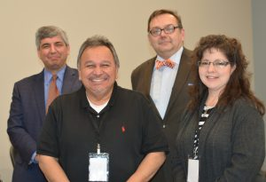 James Dworkin, Mike Oropeza of New Frontiers, Andrew Moore of Judd Thomas, and Barbara Gonzales, Priority Charter